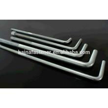 Болт L-образной формы из высококачественной оцинкованной стали, анкерный болт l-образного болта