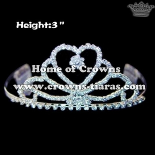 Heart Shaped Strass Pageant Tiaras