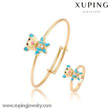 61114- Xuping Nuevo diseño Fashion Baby Jewelry Set con 18K chapado en oro