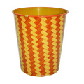 Plastic Striped Design Open Top Waste Bin (A23-827)