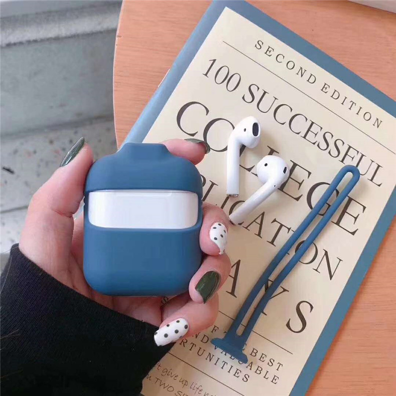 Silicone Protective Case For Apple Airpods With Strap 18