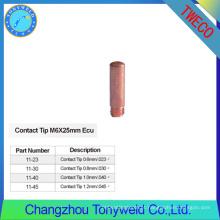 11-45 consoles de soldagem Tweco Conselhos de contato de cobre