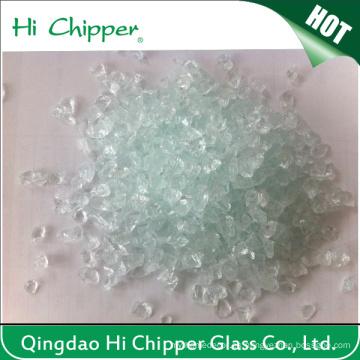Decoración Chips de vidrio transparente triturado