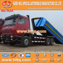 SHACMAN AOLONG 6X4 16cubic pulling arm garbage truck 290hp hot sale with high performance in China