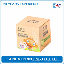 Caja de papel cosmética popular de la crema del aceite del caballo de Sencai