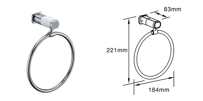 Metal Towel Ring durable