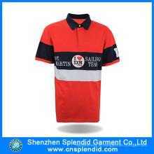 China atacado personalizado bordado barato 100% algodão Mens Polo camisas