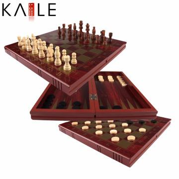 Juego de ajedrez de madera de alta calidad