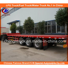 45ft 3 Axle 40ton Heavy Flatbed Truck Trailer for Container Loading