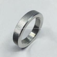 Machining Aluminum Parts with Diamond Knurling Pattern