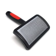 M Size - Grooming Slicker Brush Plastic Handle Stainless Steel Pin for Dogs and Puppies for sale
