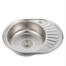 Round stainless steel sink one bowl for rv ran