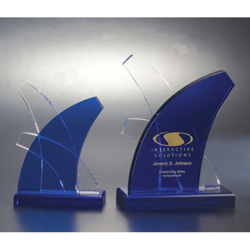 K9 Glass Crystal Trophy High Quality
