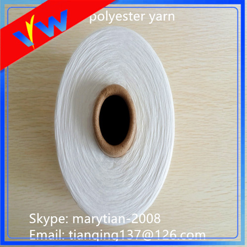 bleached white polyester fabric