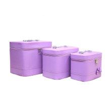 Фиолетовый косметический мешок Водонепроницаемый PU Оптовая