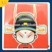 Popular design souvenir Peking Opera printing iron fridge magnet