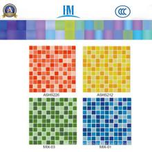 Cocina / piso / de color / Piscina / Muro de TV / Mosaico de vidrio
