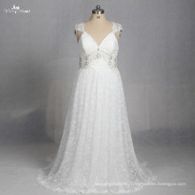 LZ176 Special Bohemia Bow Lace Fabric Plus Size Beach Dress