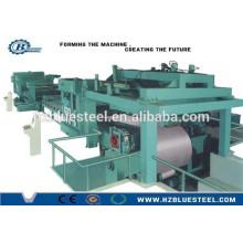 Ligne de coupe automatique de bobine d'acier avec machine de découpe et récupérateur / construction Usage de machines à vendre