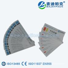 Bande d'indicateur de stérilisation à la vapeur certifiée CE pour CSSD