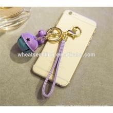Mischfarbe spezielle Entwürfe Glocke Metallgewohnheit keychain Hersteller