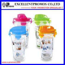 Taza de cristal vendedora caliente del recorrido con la tapa para la venta al por mayor (EP-LK57274)