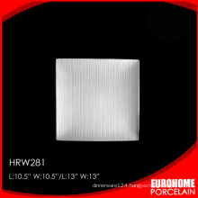 bulk buy from china white china private plate with stripe
