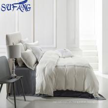 Nantong al por mayor 5 estrellas Ropa de cama Suministros / Bordado Hotel Ropa de cama / Hotel Sábana 400TC 100% algodón