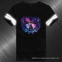 Camiseta reflectora 100% algodón de diseño de verano para hombre