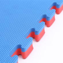 Tapetes Eva Intertravados em Jigsaw - Vermelho / Azul, 1 mx 1 mx 40 mm