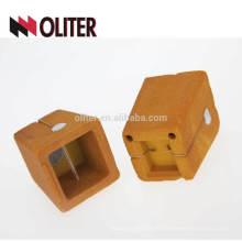Copa de muestreo de análisis térmico cuadrado OLITER y taza de carbono de analizador de silicio con arena prerrevestida