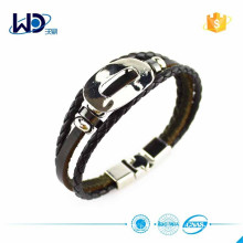 2015 Ladies Braided Leather Bracelet