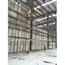 Stahlbau-Lagerwerkstatt mit Faser-Zement-Plattenwand