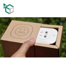 Günstige Qualität Kraftpapier Schwarz Papier oder Weißbuch Karte Logo Drucken Iphone Stecker Paket Schublade