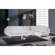Европейский стиль белый кожаный диван гостиной KW346