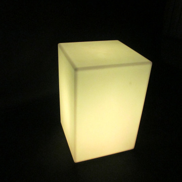 Led Light Up Meubles d'extérieur Led Cube Chair