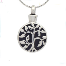 Silver round cremation jewelry pendants,enamel locket for cremation ashes