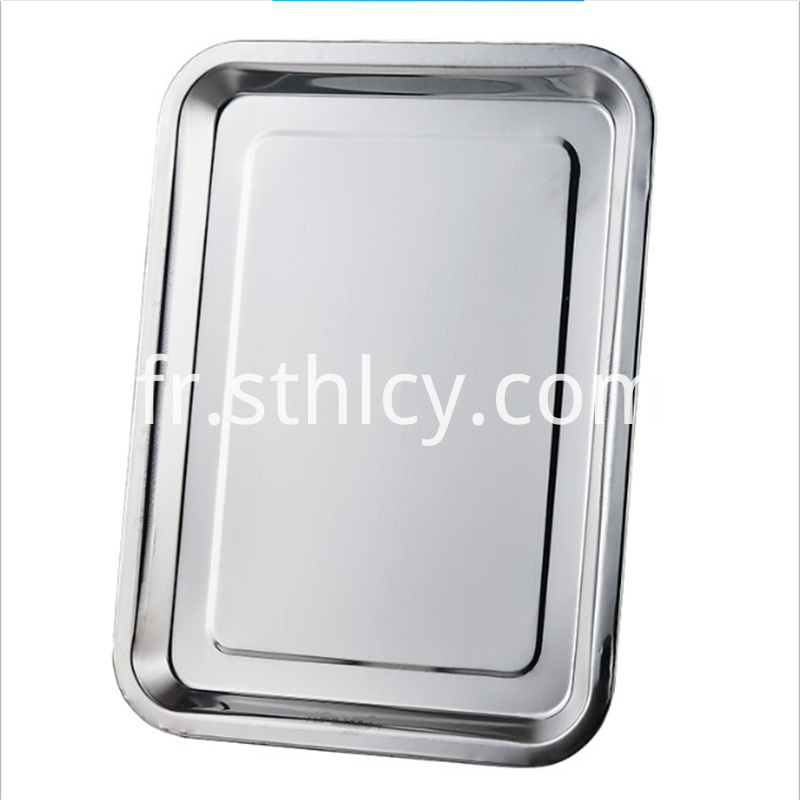 Stainless steel thickened square plate shallow square plate
