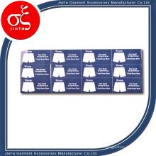 Étiquette de vêtement Étiquette d'autocollant Étiquette d'autocollant de vêtements