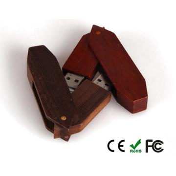 Wood Swivel Pen Drive Kundenspezifischer USB Memory Stick