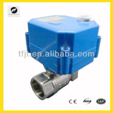 Ni Plated Brass electric operated valve with hand wheel for manual override funtion to control water flow,water treatment