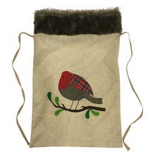Hessian Christmas Xmas Sack Cuckoo Plush