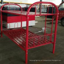 Mobília da escola de metal cama estudantes ues cor vermelha beliche