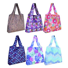 Washable Durable eco friendly waterproof grocery tote bag foldable resusable nylon shopping tote bag