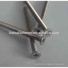 Stainless steel philips flat machine screw