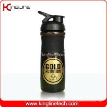 Garrafa de agitação de liquidificador de plástico de 750 ml com bola de mistura de liquidificador inoxidável (KL-7063)
