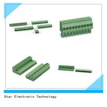 Tipo Pluggable do conector do bloco terminal de parafuso do PWB de Pólo do passo 11 de PA66 5,08 milímetros
