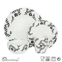 Porcelana popular de 16PCS con el sistema diario de la cena del uso de la etiqueta