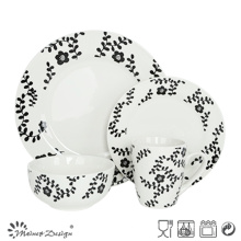 Popular 16PCS Porcelain with Decal Daily Use Dinner Set