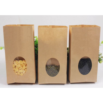 Kraft Paper Bottom Bottom Bag For Food Dry